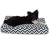Majestic Outdoor Navy Chevron Rectangle Pet Bed