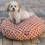 Majestic Pet Outdoor Orange Bamboo Round Pet Bed