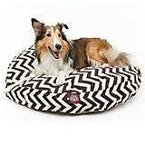 Majestic Outdoor Chocolate Chevron Round Pet Bed
