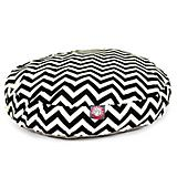 Majestic Pet Outdoor Black Chevron Round Pet Bed