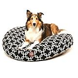 Majestic Pet Outdoor Black Links Round Pet Bed