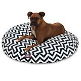 Majestic Pet Outdoor Navy Chevron Round Pet Bed