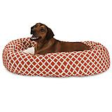 Majestic Pet Orange Bamboo Sherpa Bagel Bed