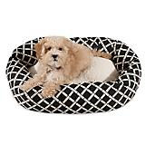 Majestic Pet Black Bamboo Sherpa Bagel Bed