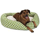 Majestic Pet Sage Bamboo Sherpa Bagel Bed