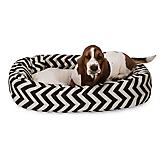 Majestic Pet Black Chevron Sherpa Bagel Bed