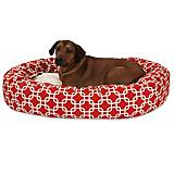 Majestic Pet Red Links Sherpa Bagel Bed