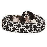 Majestic Pet Black Links Sherpa Bagel Bed