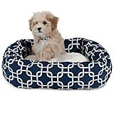 Majestic Pet Navy Links Sherpa Bagel Bed