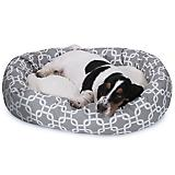 Majestic Pet Grey Links Sherpa Bagel Bed