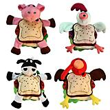 Multipet Silly Sandwiches Plush Dog Toy