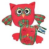 Grriggles Radiant Tartan Plush Owl Dog Toy