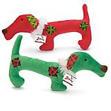 Zanies Plaid Patch Holiday Pup Dog Toy