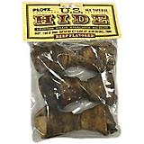 US Hide Beef Rawhide Flat Knot 4-5in Dog Bone 24ct