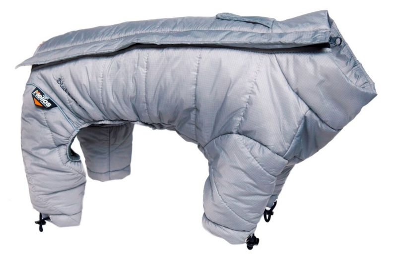 Helios Full Body Reflective Dog Snowsuit SM Gray (PET LIFE LLC JKHL6GYSM 858342003254 Dog Supplies Clothes) photo