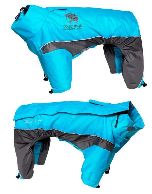 Touchdog Reflective Dog Snowsuit MD Blue/Gray (PET LIFE LLC JKTD3BLMD 858342003964 Dog Supplies Clothes) photo