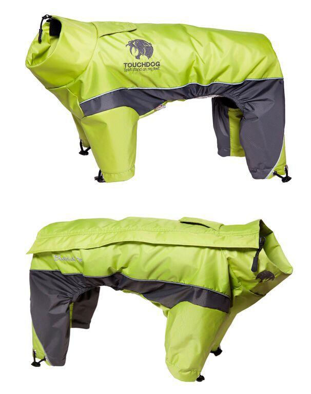 Touchdog Reflective Dog Snowsuit XS Yellow/Gray (PET LIFE LLC JKTD3YLXS 858342003896 Dog Supplies Clothes) photo