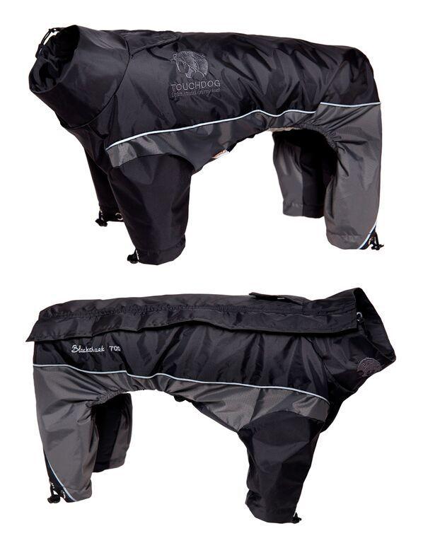 Touchdog Reflective Dog Snowsuit LG Black/Gray (PET LIFE LLC JKTD3BKLG 858342003872 Dog Supplies Clothes) photo