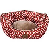 SnooZZy IKAT Ease Orange Clamshell Dog Bed