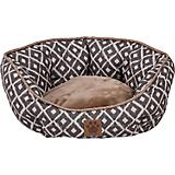 SnooZZy IKAT Ease Gray Clamshell Dog Bed