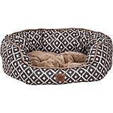 SnooZZy IKAT Ease Gray Daydreamer Dog Bed