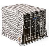 SnooZZy IKAT Ease Gray Dog Crate Cover