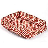 SnooZZy IKAT Ease Orange Drawer Dog Bed