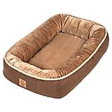 SnooZZy Rustic Elegance Brown Bumper Dog Bed