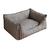 Pet Life Water Resistant Brown/Blue Plaid Bed