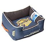 Touchdog Vintage Midnight Blue Bolster Dog Bed
