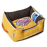 Touchdog Vintage Lemon Yellow Bolster Dog Bed