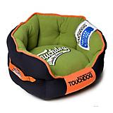 Touchdog Castle Bark Premium Blue/Green Dog Bed