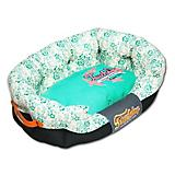 Touchdog Floral Galore Teal Dog Bed