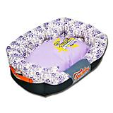 Touchdog Floral Galore Lavender Dog Bed