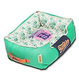 Touchdog Floral Teal Bolster Dog Bed