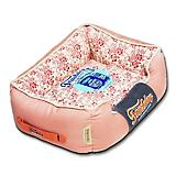 Touchdog Floral Pink Bolster Dog Bed