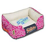 Touchdog Rose Pedal Pattern Pink Dog Bed