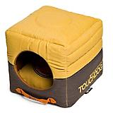Touchdog Vintage 2in1 Yellow/Brown Dog House Bed