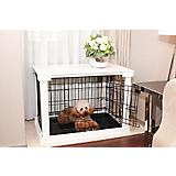 Merry Products Pet Cage w/White Crate Cover