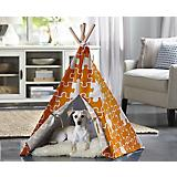 Merry Products Orange Puzzle Pet Teepee