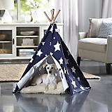 Merry Products Blue/White Stars Pet Teepee