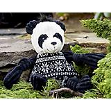 Hugglehounds Plush Holiday Knotties Panda Dog Toy
