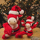 Hugglehounds Holiday Knotties Cow Dog Toy