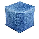 Jax and Bones Stonewash Plush Velour Pouf Ottoman