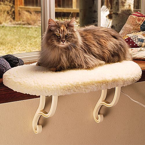 KH Mfg Heated WindowSill Cat Bed