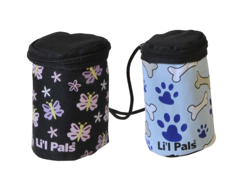Li'l Pals Waste Bag Dispenser Black w/Butterflies