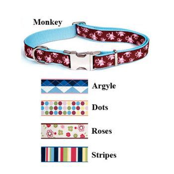 Pet Attire Ribbon Collar 18-26inX1in Argyle