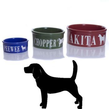 Personalized Chihuahua Pet Food Dish