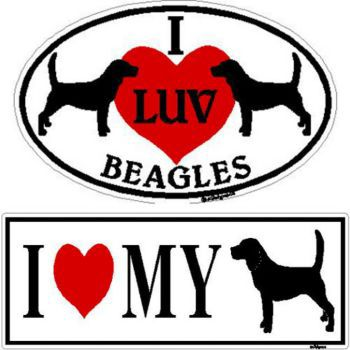 I Love My Min Schnauzer Sticker Oval Magnetic