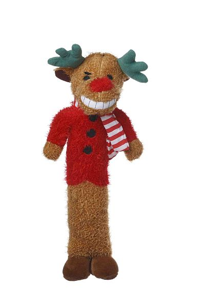 Loofa Reindeer Dog Toy 18 Inch
